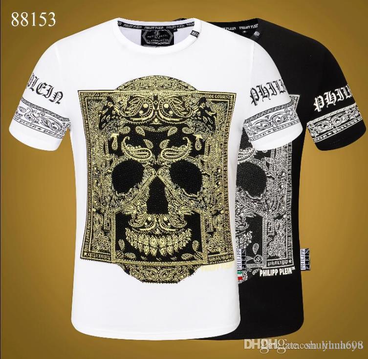 Trendy Yaz Moda Tasarımcıları Erkek Gömlek Tişört Harf Nakış Tişört Erkek Marka Kısa Kollu T-Shirt Bluz-968