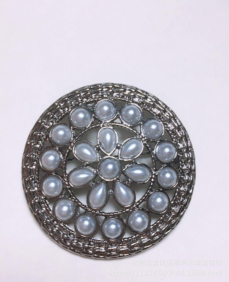 Amashi New highlight Pearl disc brooch high-end fashion Mexican South American blue brooches costume jewelry wholesale