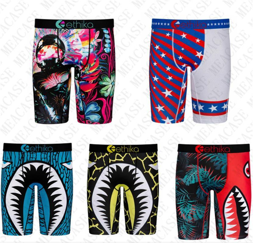 Köpekbalığı Erkekler Hızlı Kuru Boksörler Uzun Dipler Iç Çamaşırı Tasarım Mayo Şort Külot Spor Sahil Kısa Pantolon Legging Külot Erkek D72707