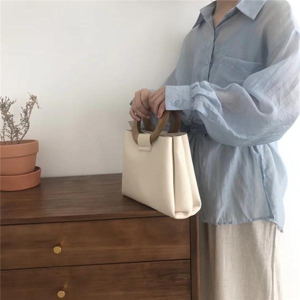 Casual Çantalar Ahşap Yüzük 2021 Çanta Moda Omuz Tote Kadınlar Haberci Lüks Çanta Tasarımcı Çanta Katı Yeni Wrceq