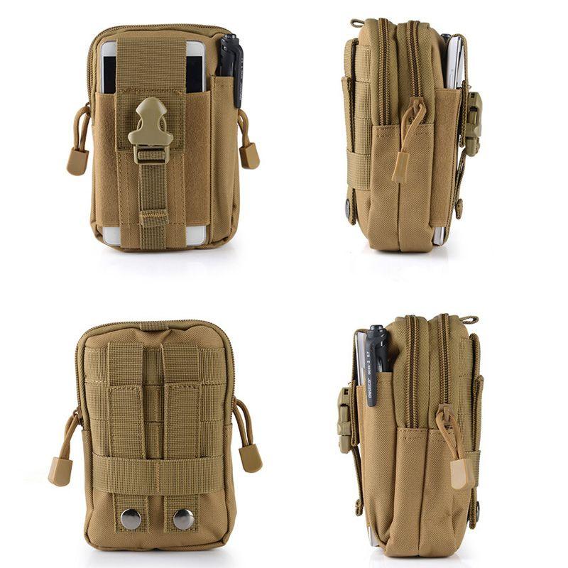 ABER militaire Molle Pouch Sac de taille Camo Nylon imperméable multifonction Casual Hommes Fanny Waist Pack Homme Petit sac téléphone portable Case