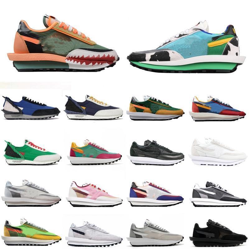 2020 LDV galleta para hombre de los zapatos corrientes de las mujeres Negro Blanco Gris Verde pino Gusto del equipo universitario de los hombres azules Formadores Moda Deportes zapatillas cZsb #