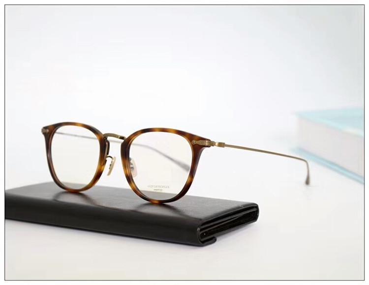2020 عالية الجودة OV5307D نقي التيتانيوم الإطار جولة خمر لوصفة طبية نظارات 49-21-145 FASHIONAL خفيفة للغاية للجنسين freeshipp منفذ