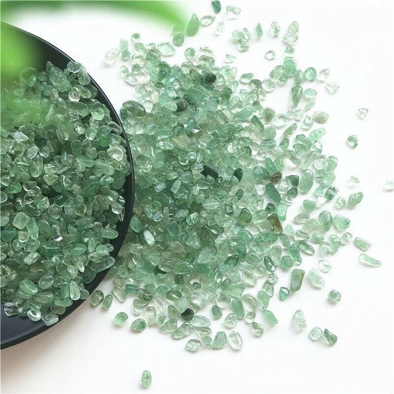 50g Natural Verde morango cristal polido Cascalho pedras minerais Specimen Pedras e minerais naturais