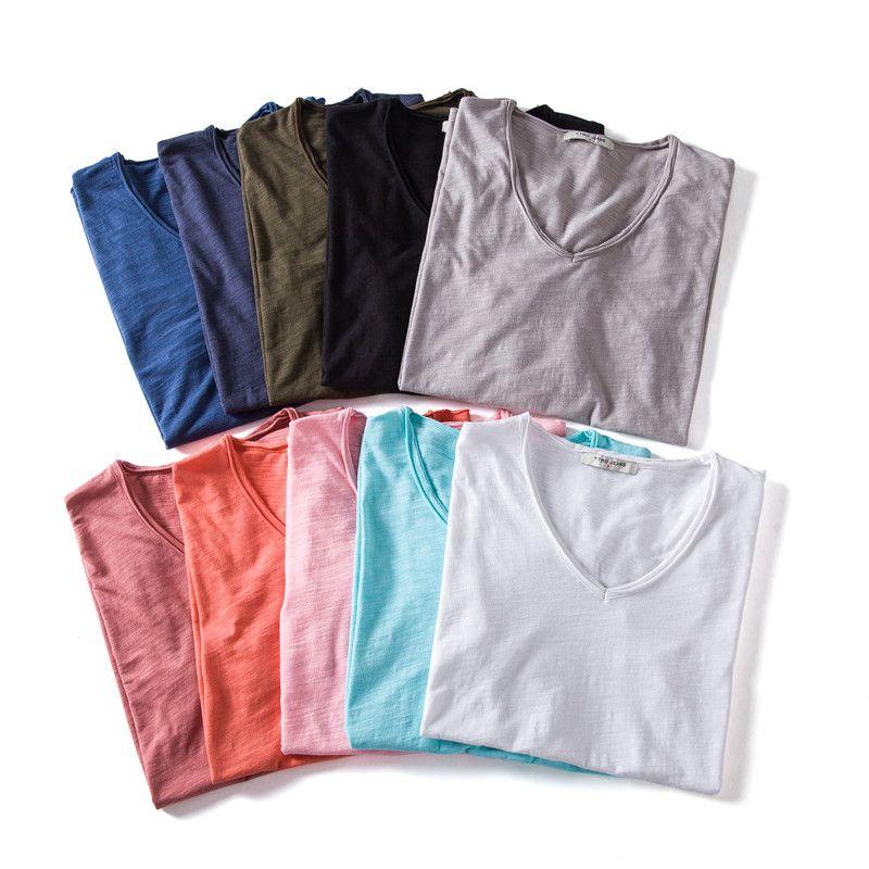 10 couleurs Hommes T-shirt manches courtes hommes T-shirt solide coton pour hommes T été T-shirt 3-pack Vêtements Sous Vetement Homme
