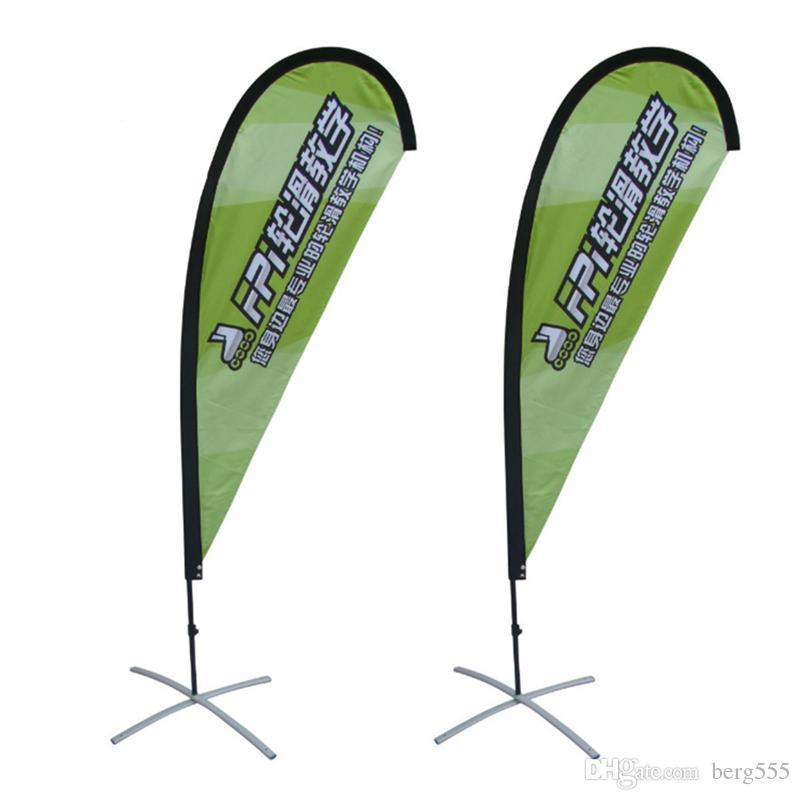 3.5m Durable Beach Flag Flying Banner Display With Single Or Double Printing Fabric Banner Portable Carry Bag