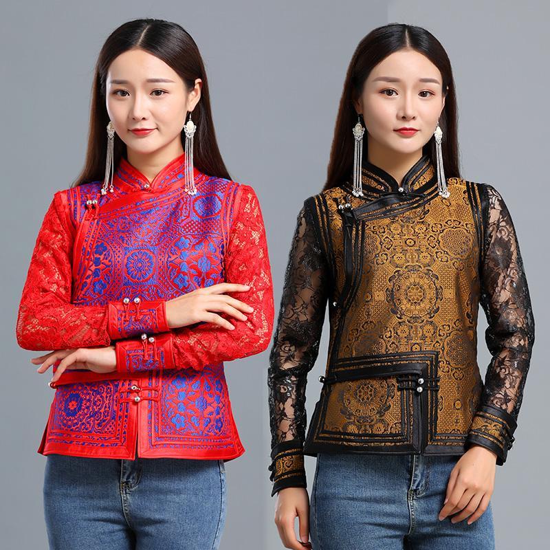 Kadınlar asya festivali Kostümler şık Moğol Giyim parti Sahne performansı Aşınma uygun tang Halk oryantal yaz giyim
