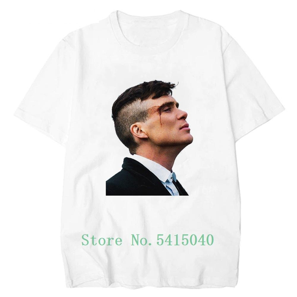 Solgunsun kör Pamuk Moda Erkekler Erkekler Tişört Erkekler Tshirt Tops Erkek T Gömlek Print Ay Kısa Kollu Kazı