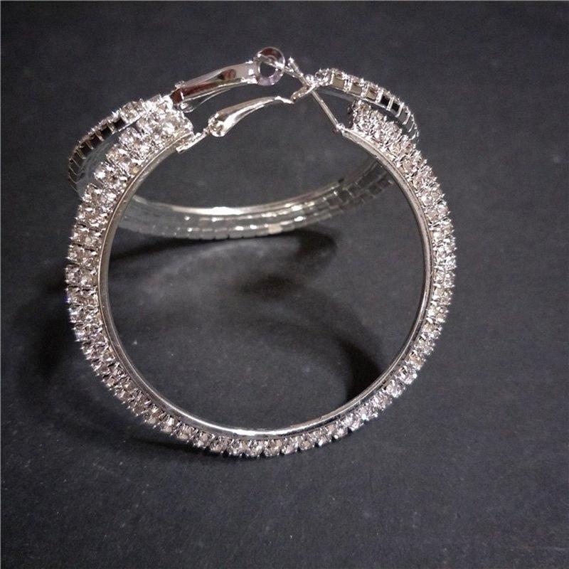 Classic Lady Argola Cor Prata Brincos Moda acessórios jóia do casamento Womens Femininas amigo melhor presente BLR6 #