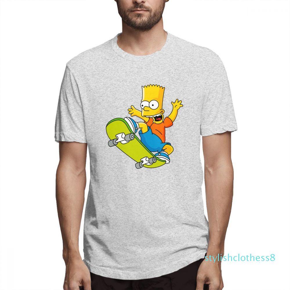 Yaz Simpsons Moda Tasarımcısı Gömlek Kadın Gömlek Erkek Kısa Kollu Gömlek Simpsons Baskılı T Gömlek Nedensel c3102s08 başında