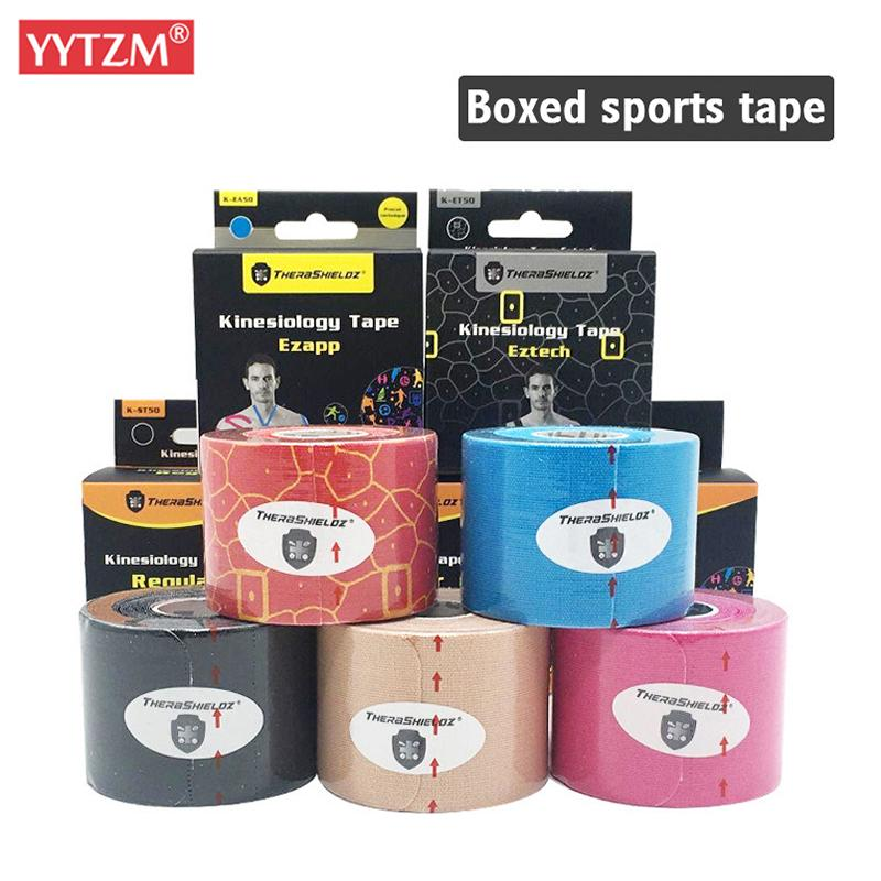 5cm*5m Upgraded Pre Cut Muscle Tape Elastic Roll Sports Kneepad Internal Cotton Elastic Adhesive Sport Kinesiology Patch