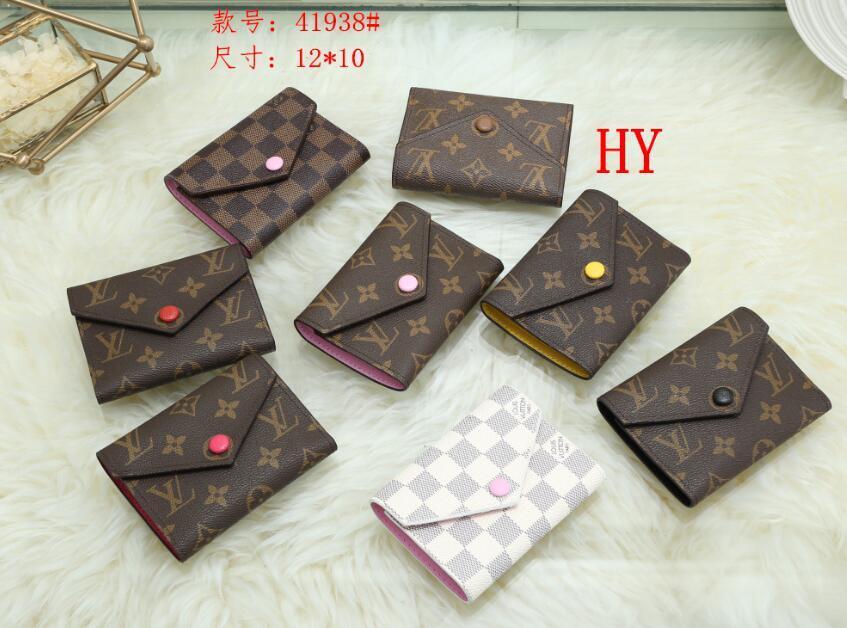 الجملة محفظة جلدية للنساء مصمم متعدد الألوان حامل بطاقة قصيرة محفظة إمرأة محفظة سحاب الكلاسيكية جيب فيكتورين