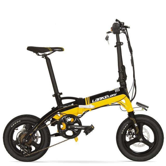 Bicicleta eléctrica plegable Mini 14 pulgadas Dos Ruedas bicicleta eléctrica del sistema de frenos de disco / Bicicletas Ocultos batería eléctrica Adultos