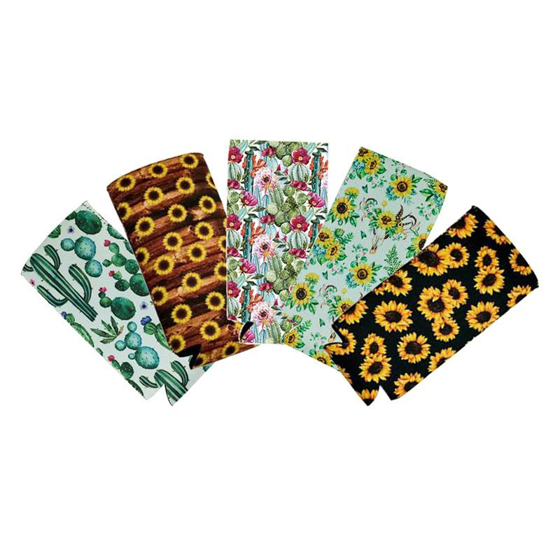 Bottiglie Maniche Fiori Cactus linee morbide Tumber Holder colorato Patch leopardo di stampa CUPS Jacket calore Conservazione 1 9DQ C2