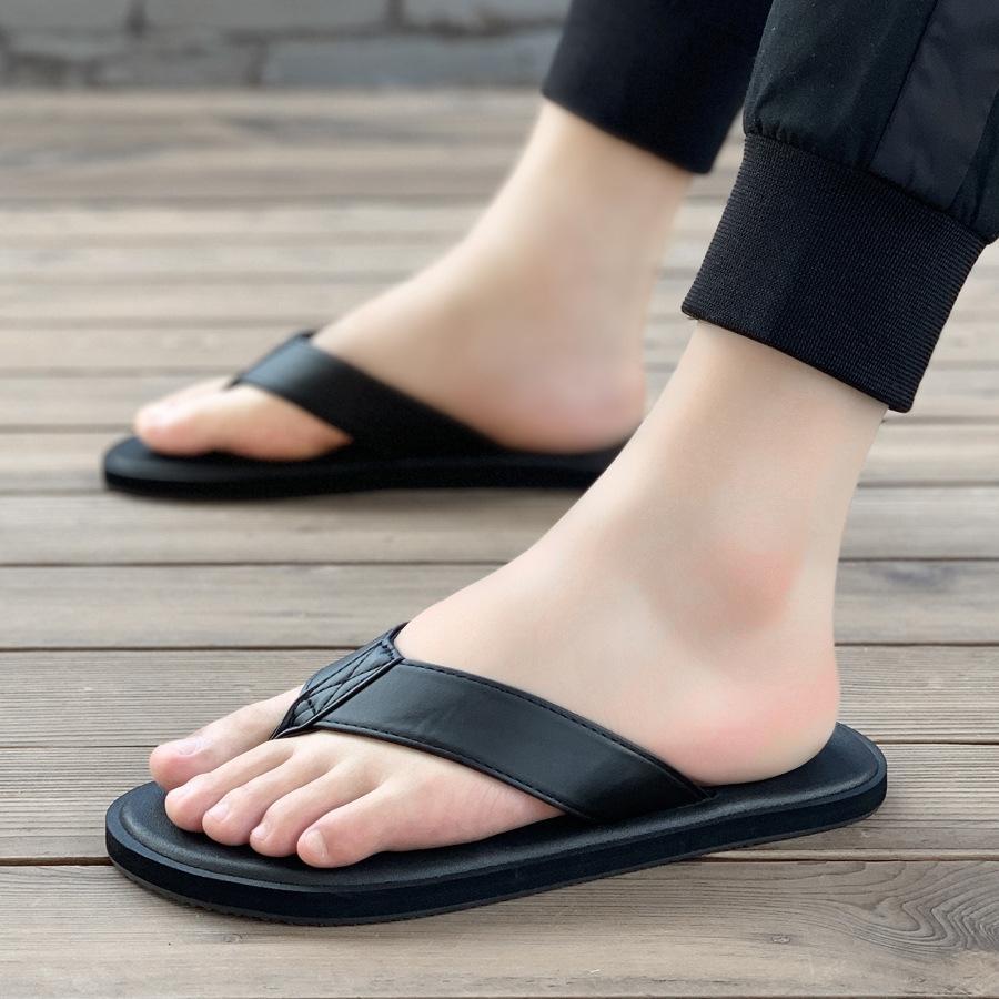 uomini iijGN estate infradito di moda all'aperto infradito ciabatte e pantofole antisdrucciolevole molle sandali degli uomini di slittamento del fondo personalizzato moda