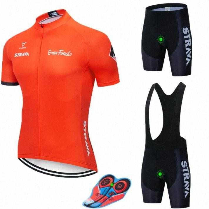 2019 STRAVA Cycling Jersey Set Summer Mountain Bike Clothing Pro Bicycle Cycling Jersey Sportswear Suit Maillot Ropa Ciclismo YLTE#