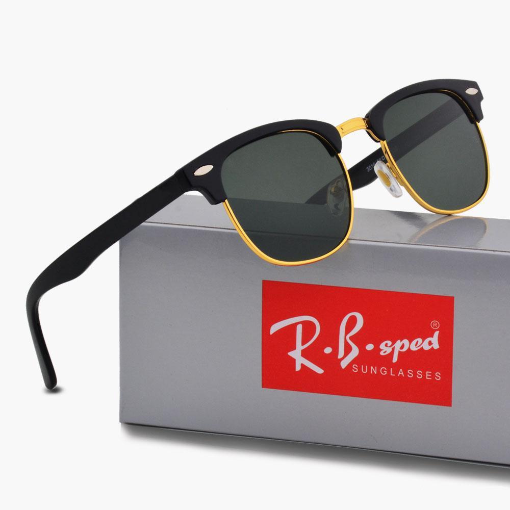 15 цветов на выбор Мужчины Женщины поляризованные очки Semi Rimless ВС очки золотой раме Polaroid объектив с оригинальным Case And Box