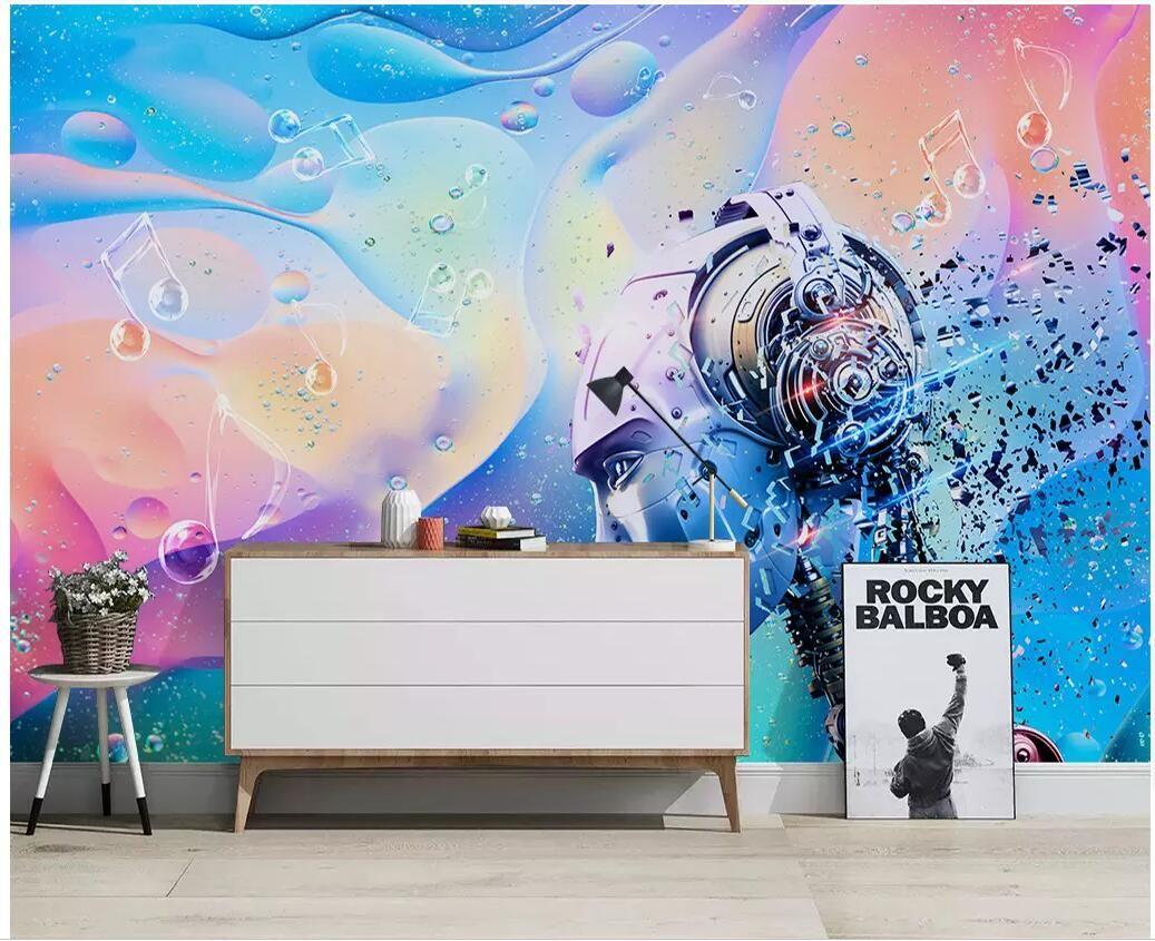 WDBH 3d murale sfondo personalizzato Electronic Music Fashion Bar KTV tv parete di fondo pittura decorazione della casa vivente carta da parati spazio per pareti 3 d