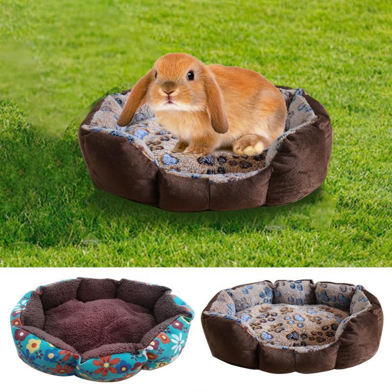 ارتفاع درجة حرارة سرير الكلب بيت الكلب قابل للغسل الحيوانات الأليفة مثمن عش الحيوانات الأليفة وسادة القطيفة وNonslip لسرير الكلب أسفل لكبير البيت الحيوانات الأليفة الصغيرة