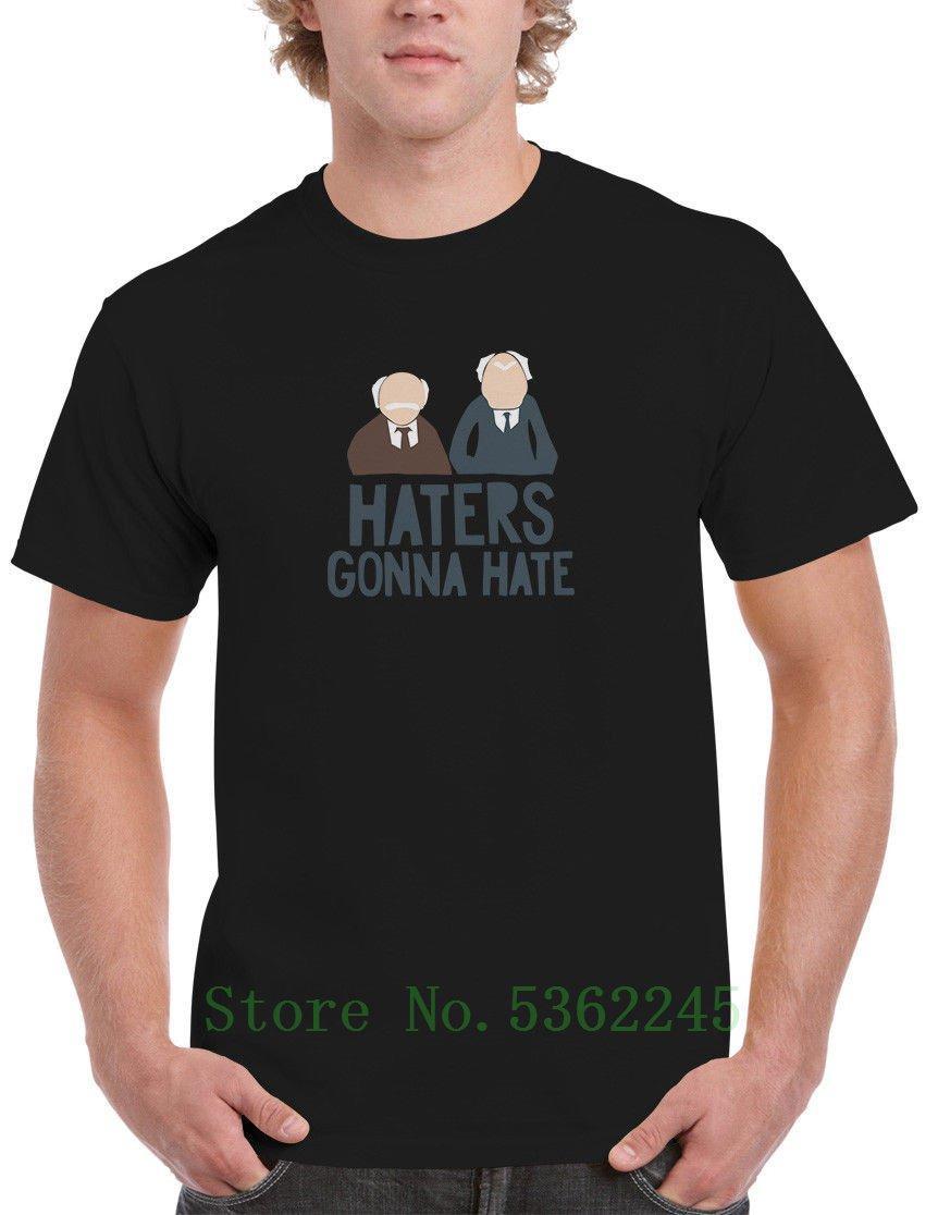 El odio Muppets Enemigos que van a la camiseta para hombre Statler Waldorf Old Guys Kermit T T camisa de los hombres de dibujos animados de moda Nueva camiseta unisex