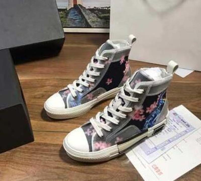 2020 новое ограниченное издание специально отпечатанные холст обувь, мода универсальный высокой и низкой обуви, с оригинальной упаковке обуви коробки