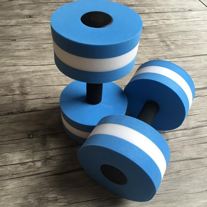 الدمبل 2PCS المياه التمارين الرياضية إيفا المائية الحديد اللياقة أكوا بركة ممارسة رغوة العائمة الدمبل اليوغا