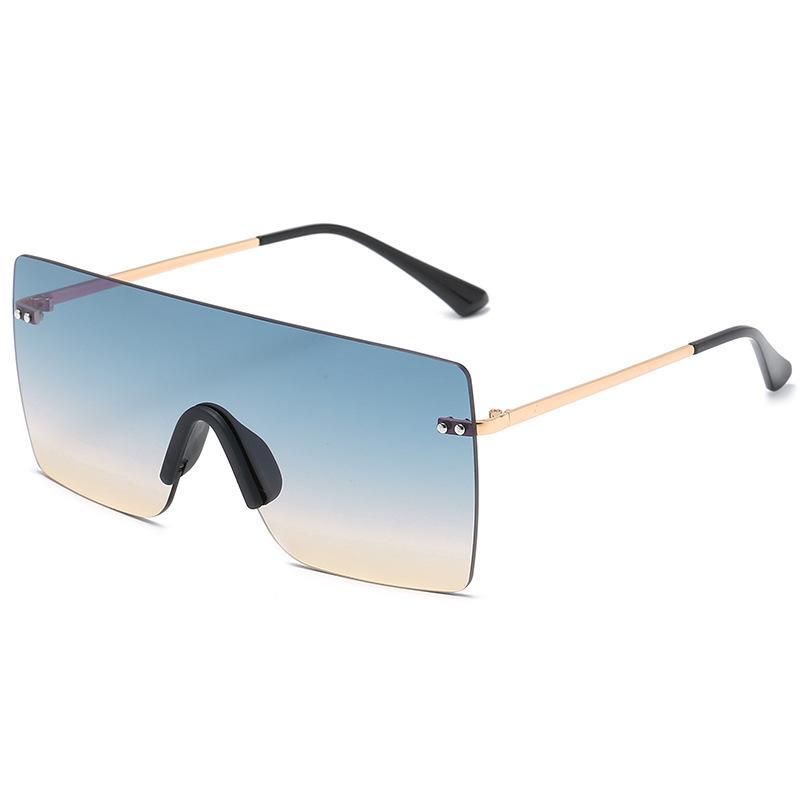 2020 여성의 새로운 디자이너 선글라스 그라데이션 무테 일이 선글래스 거리 패션 안경 축제 선물 occhiali 복고풍 여성 명품 안경