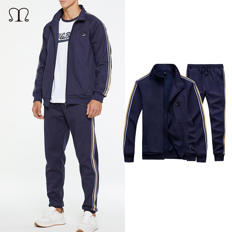 Tuta Uomini Imposta Jacket Sportsuit Set Uomo Primavera Autunno Felpa con cappuccio + pantaloni casual maschile 2020 Marchio Sportswear Abbigliamento CX200730