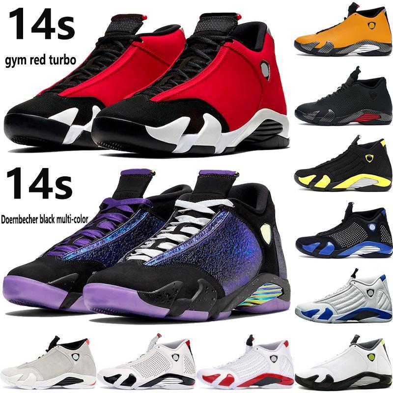14 Basketballschuhe 14s jumpman Turnhalle rot Turbo Doernbecher schwarz multi color toe INDIGLO hyper königliche Mode Outdoor-Sport Mensturnschuhe