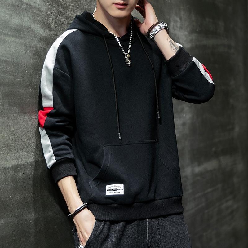 2020 Koreli ince taban Coat gömlek kazak xJxF4 Erkek kapşonlu yeni ilkbahar ve sonbahar kapüşonlu külotlar öğrenci moda erkek ceket külotunu