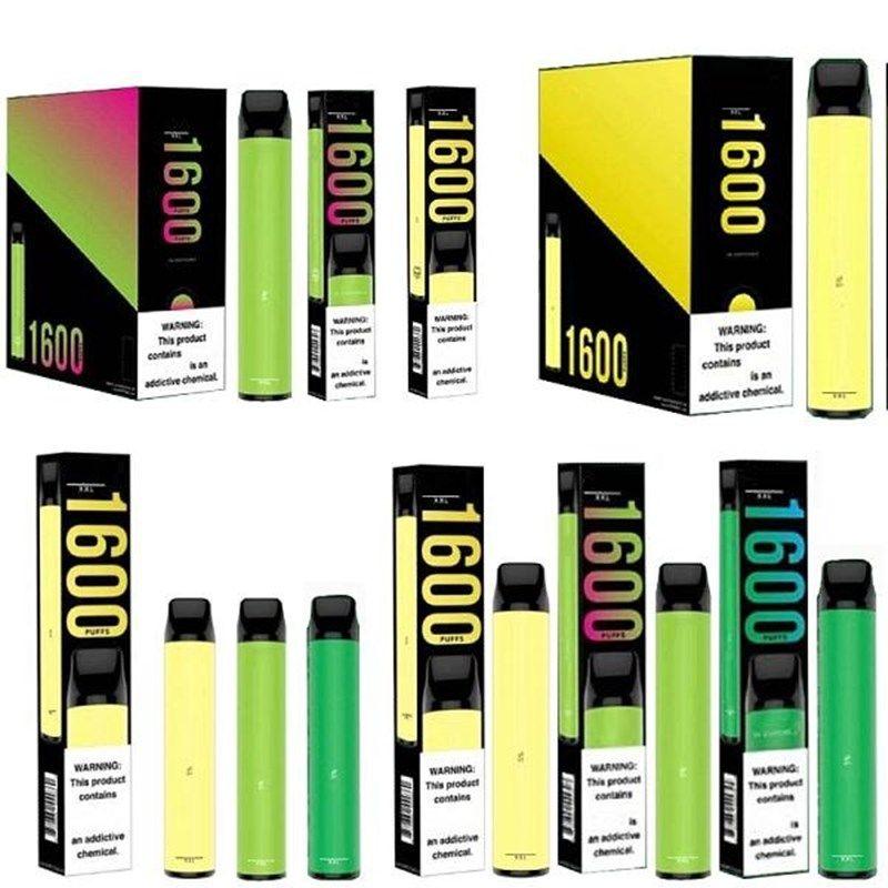 퍼프 XXL 일회용 vape 펜 1600 퍼프 미리 채워진 포드 vape 카트리지 퍼프 바 플러스 전자 담배