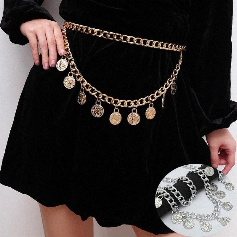 Cadeia de borla ouro Belt Para Mulheres Vestidos Punk Fringe prata cintura Cintos Feminino metal vestido dourado Belt # 11 lnzX #