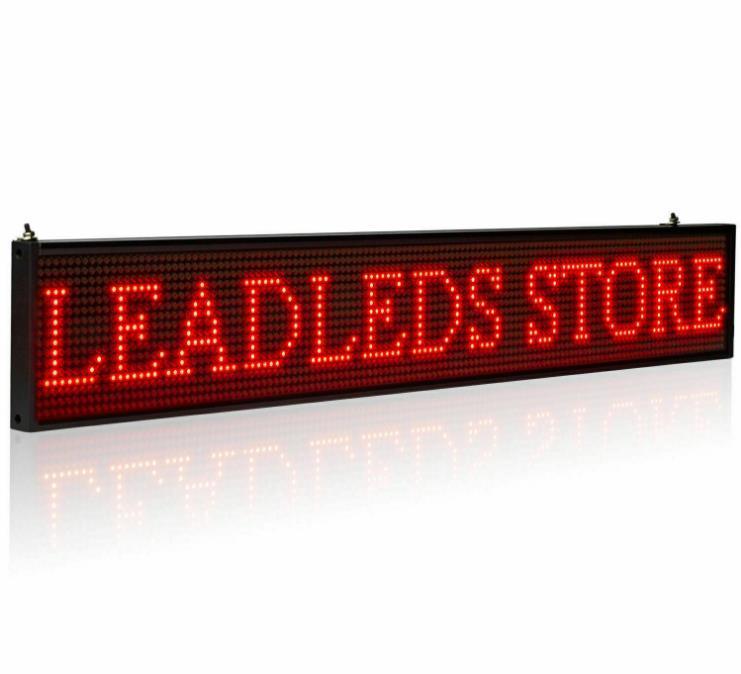 2020 HOT El nuevo p5mm programable LED de desplazamiento placa de la muestra del mensaje (color opcional)