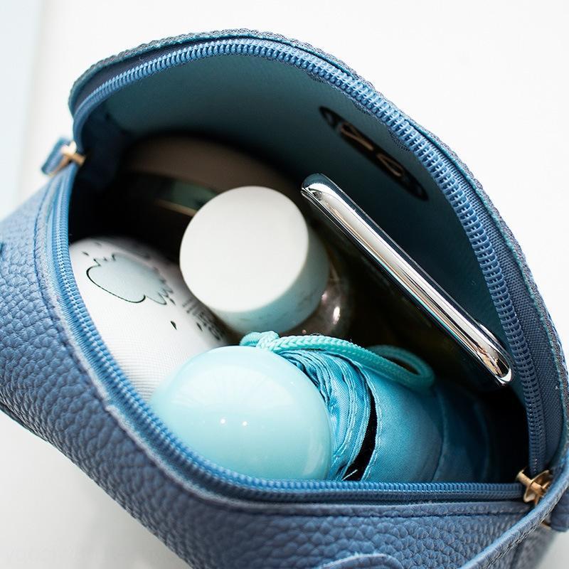 2019 Die neue Kosmetik-Telefon pu koreanische Art kleine tragbare Schulterfrauen der Frauen der Make-up Tasche diagonale Handytasche