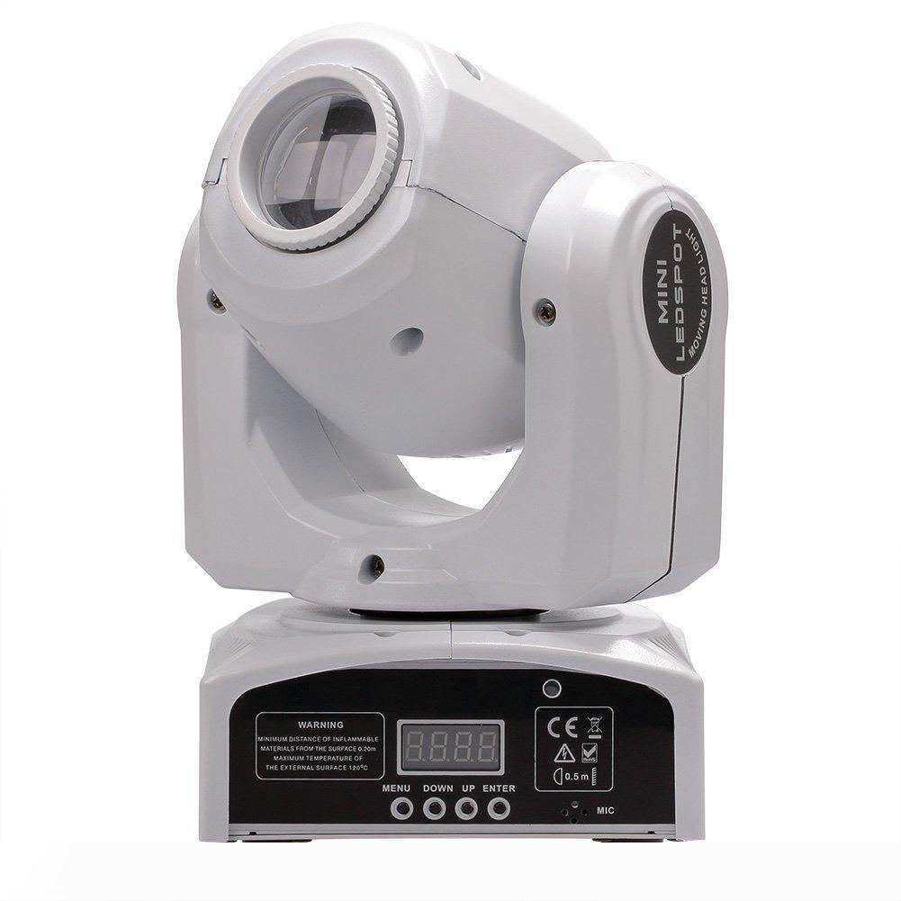 머리 조명 LED 10W 30W는 반점 이동하는 빛 DMX 무대 스팟 미니 LED가 헤드를 이동 8colors 이동
