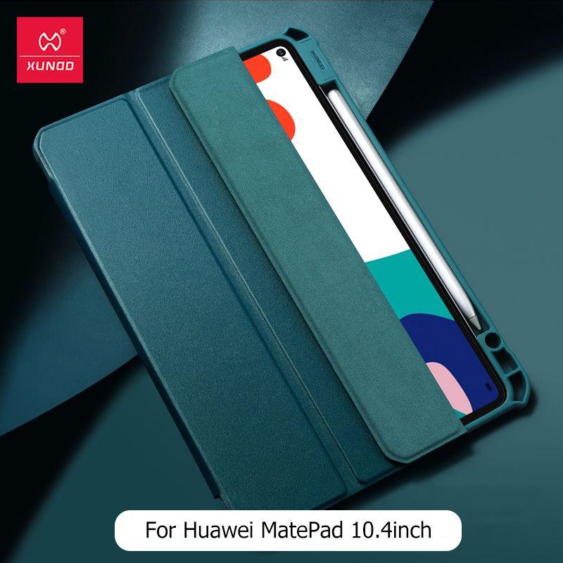 Huawei Matepad Pro 10.4 için Kalem Tutucu ile XUNDD Anti-darbe Darbeye Tam Koruma Akıllı Kapak Wake Uyku Ayaklı Tablet Kılıfı