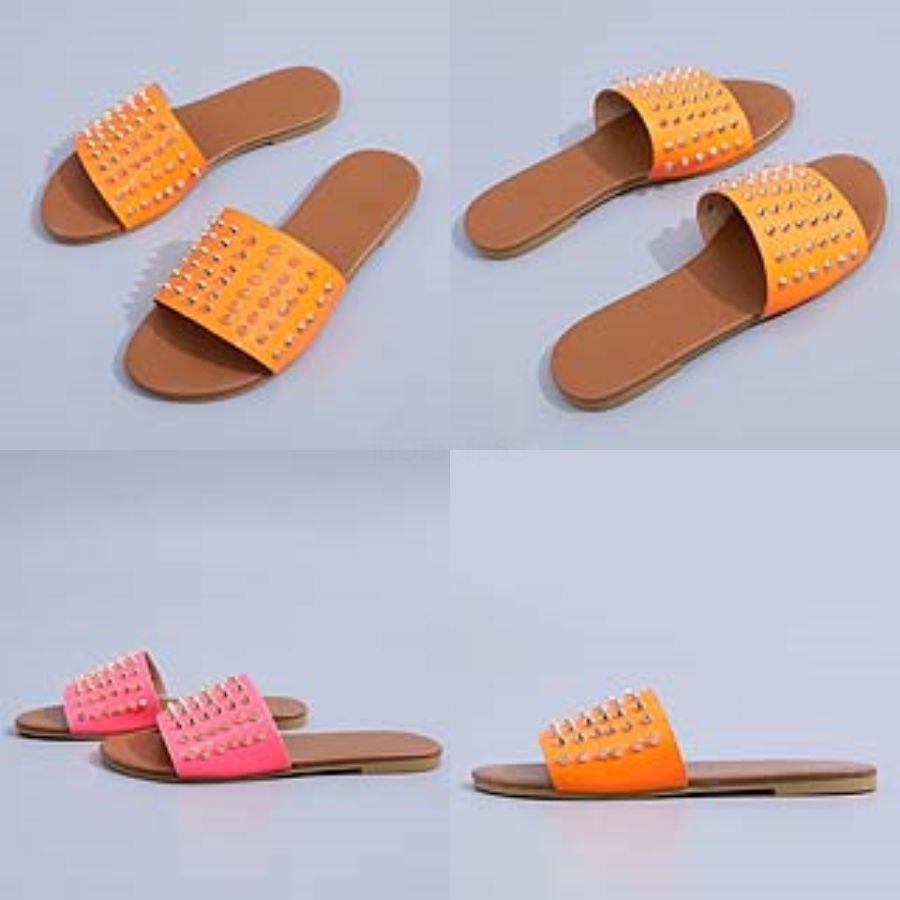 Dener Sandal Diapositives Ig qualité PU Leater Sandales femme Fasion Robe Ig Eel Slipper Taille Sandal # 444 L12 35-40 # 188