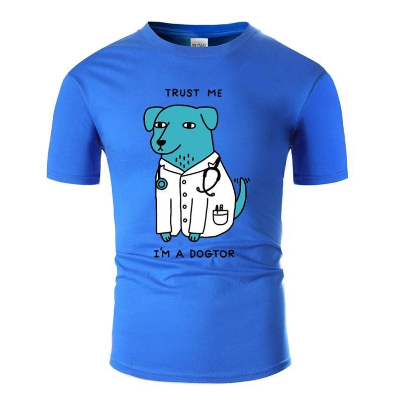 Personalidad verano Dogtor camiseta para hombres de algodón unisex Ropa de Harajuku T Shirts 2020 camiseta de manga corta camisa de calidad superior