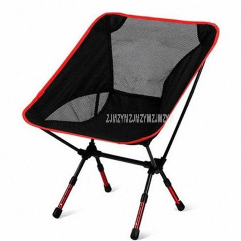 Outdoor Portable Seat Lightweight Fishing Beach Chair Portable Folding Camping Chair Stool Load Weight 150kg Height Adjustable 5xKX#