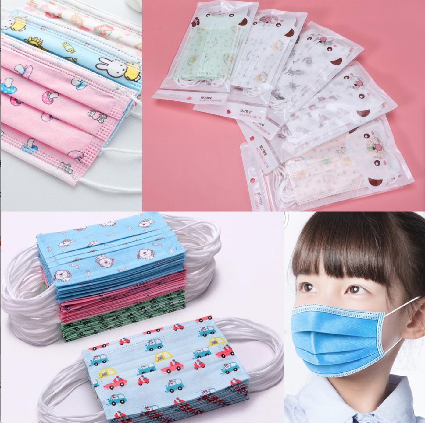 Máscaras para niños paquete al por menor de mascarillas diseñador de moda infantil máscara facial niños 3layers desechables máscara protectora boca cabrito nave DHL en 8 horas