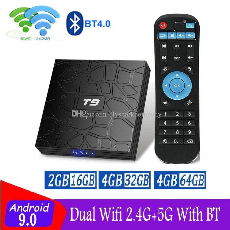 T9 Android 9.0 TV Box Rockchip RK3318 4GB+32GB Dual Wifi 2.4G+5G Bluetooth 4.0 caja de tv android X96 Air