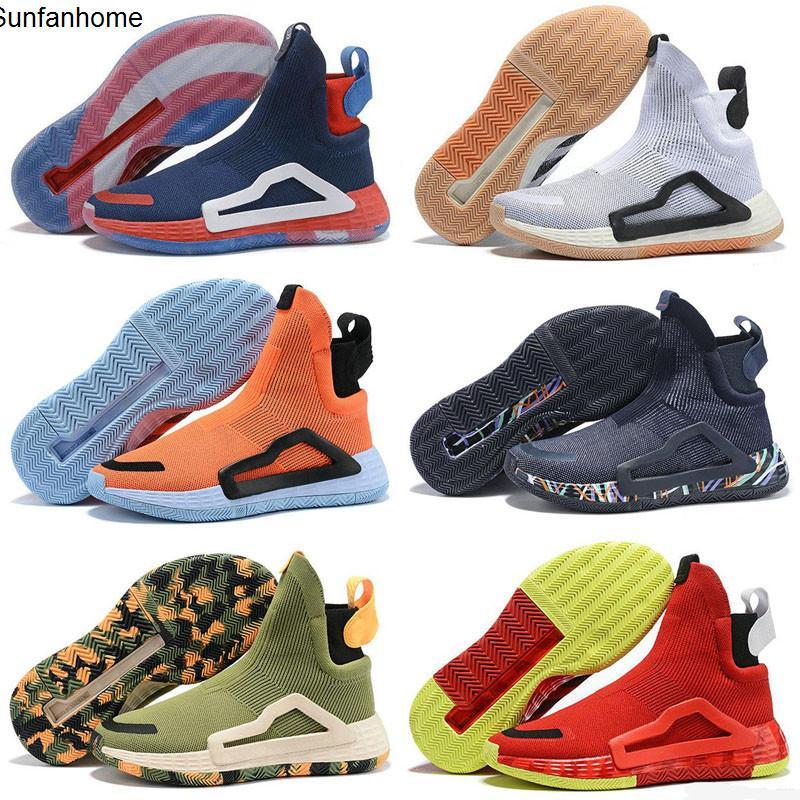 2020 chegam novas Shoes Donovan Mitchell N3XT L3V3L High Side Knitting Basquetebol Boa Qaulitys Zapati NakeskinJordâniaRetros Sneaker
