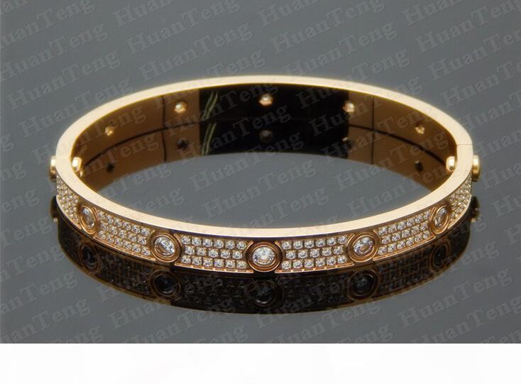 Maschio e femmina paio Bracciale oro rosa 18 carati di titanio Repubblica braccialetto trapano Amore