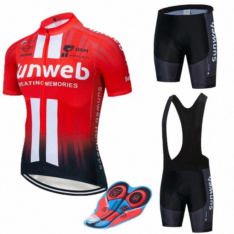 2020 2020 RED SUNWEB Pro Cycling Wear велосипед Джерси Quick Dry велосипедов Clotheing Mens Summer Team велоспорта 20D велосипед шорты Комплект Фро iboQ #