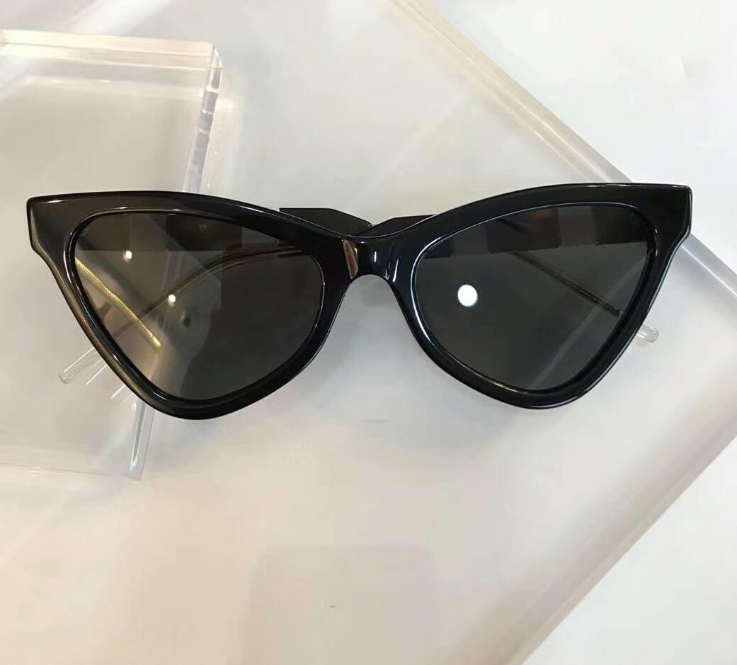 Avec un oeil noir noir / gris 0597 boîte lunettes de soleil chat femmes lunettes de soleil Sonnenbrille Nouveaux lunettes de soleil ombragées Vifmd