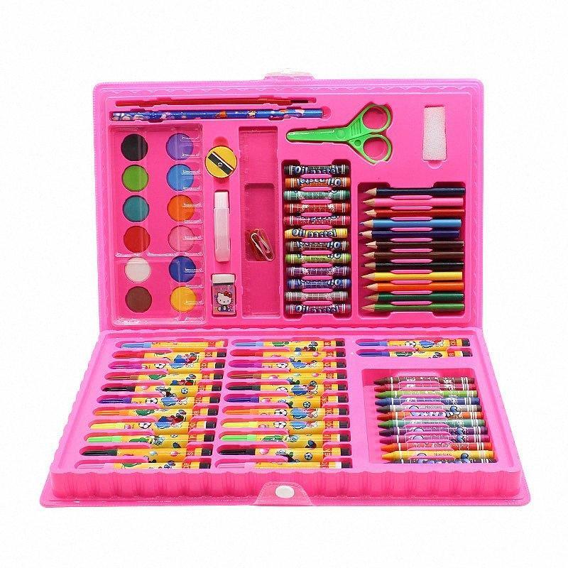 86 Conjuntos De Pluma de la acuarela Pintura de los niños de aprendizaje de los niños determinados de dibujar con crayones, pintura al óleo palos, cepillos del arte YXx7 #