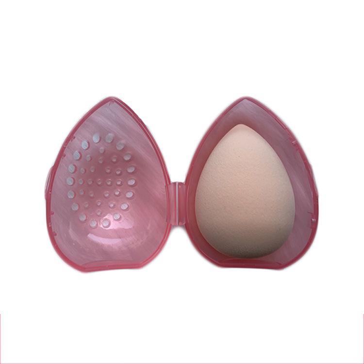 Schönheitsschwamm Stand Aufbewahrungskoffer Make-Up Mixer Puffhalter leerer kosmetischer eiförmiger Rack transparente Puffs Trockenkasten