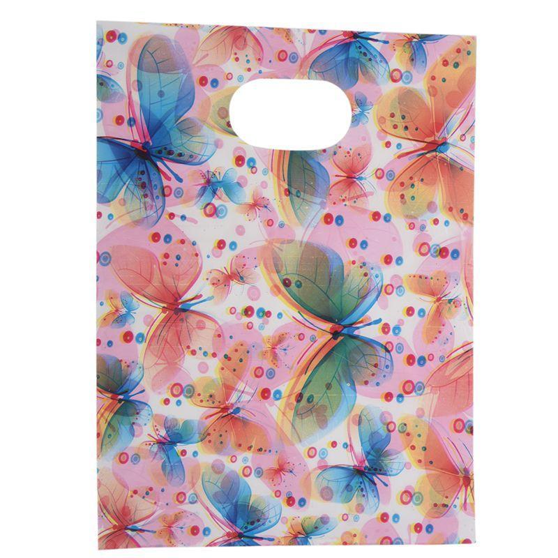 100pcs bastante mini mezclado modelo joyería plástica de la bolsa de la compra de regalos de la bolsa 20 * 15 cm