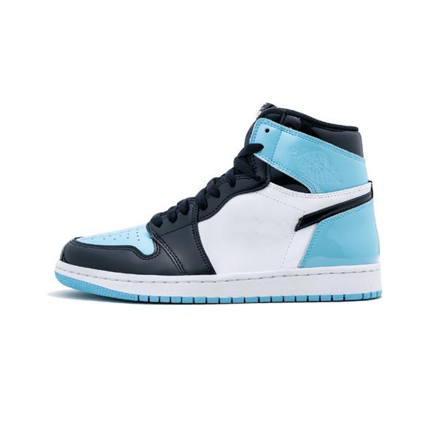 (Mit Boxen) 1 OG-Basketball-Schuh-Männer Chicago rot 1S Turnschuhe Frauen Designer Schuhe UNC Powder Blue white Trainer Luxussportschuhe