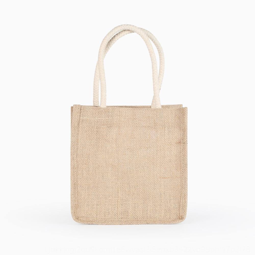 Jüt Omuz pamuk taşınabilir jüt omuz pamuklu keten çanta keten çanta özelleştirilmiş Alışveriş alışveriş